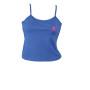 Ladys Spagetti Strap top blue Pink logo