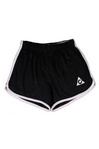 Ladys Black logo shorts