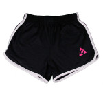 Ladys Black with Pink logo shorts